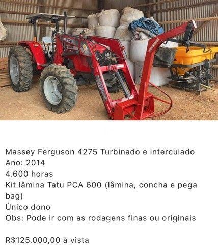 Trator MF 4275 2014 (em Goiás ) Parcela