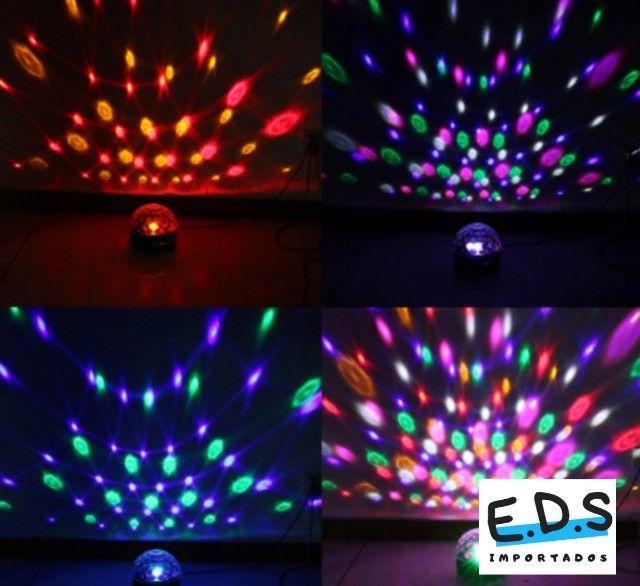 Globo Colorido para Festa Com Bluetooth Acompanha Pendrive Gravado e Controle Remoto - Foto 2