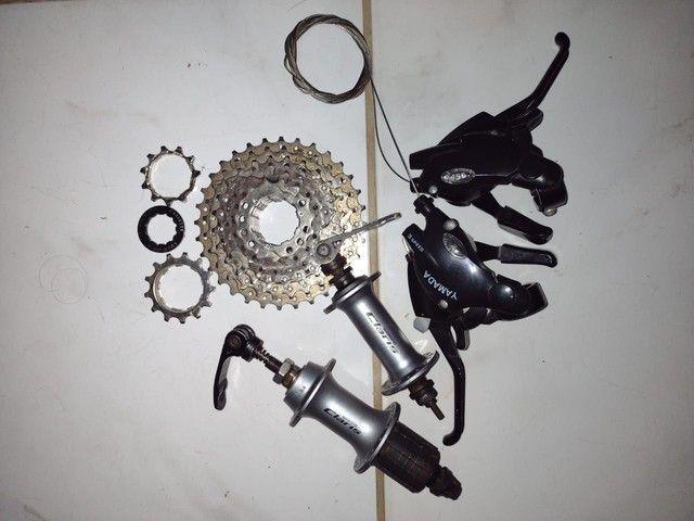Peças de Bicicleta Semi novas - Foto 5