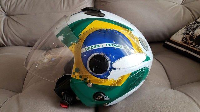 Capacete New Atomic Pro Tork Bandeira Do Brasil - Foto 2