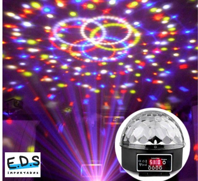 Globo Colorido para Festa Com Bluetooth Acompanha Pendrive Gravado e Controle Remoto - Foto 4