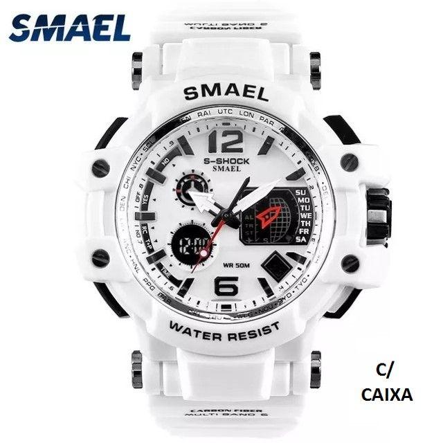 Relógio Militar Smael S Shock Branco 1509 a prova da água C/ Caixa - Foto 3