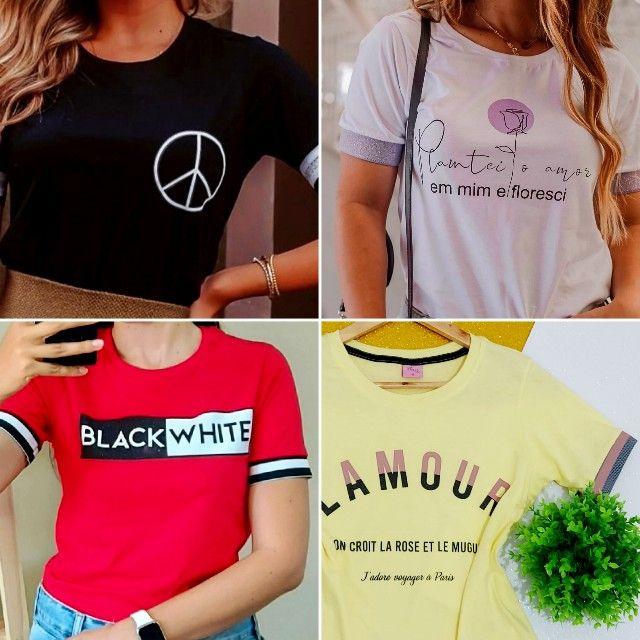 12 T-Shirts Feminina No Atacado! - Foto 2