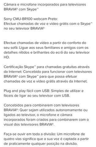 Câmera e Microfone Integrados para TVs Bravia CMU-BR100 - Foto 3
