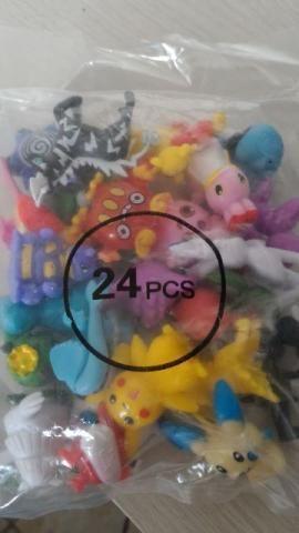 Miniaturas pokemon kit com 24 unidades coleção - Foto 5