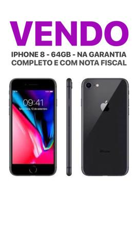 Vendo IPhone 8 64GB na Garantia