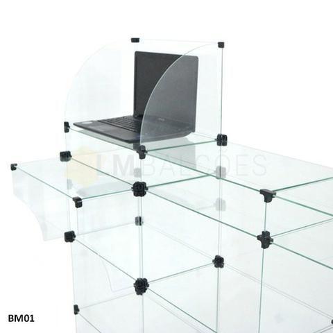 Balcao Caixa de Vidro 1,50 x 1,10 x0 ,30 Frete e Montagem gratis - Foto 3
