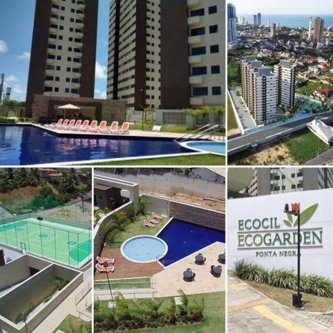 Apartamento mobiliado 2/4 em Ponta Negra - Ecogarden