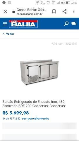 Balcão refrigerado de encosto Aço escovado - Foto 4