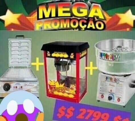 Buffet:Máquina de Algodão doce+Pipoqueira +Crepeira)