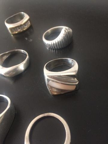 Anéis de prata aro 18/19 - Foto 3