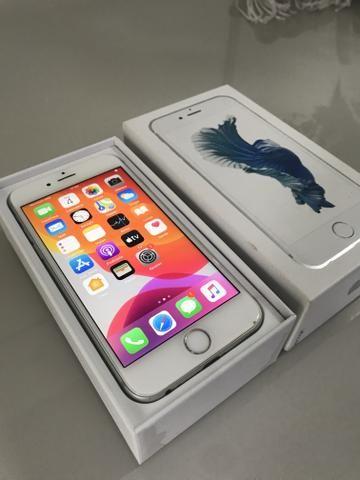 IPhone 6s 64gb Prata com caixa e todos acessórios - Foto 2