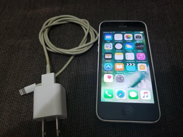 Iphone 5C 8GB Branco + Carregador original + Icloud Desbloqueado
