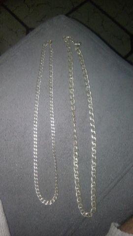 888c8036ce093 2 corrente de prata 925 italiana - Bijouterias, relógios e ...