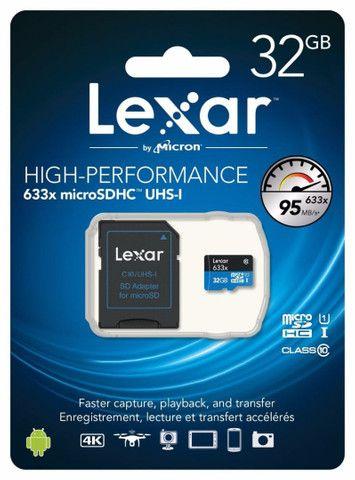 cartão de memória lexar 32gb