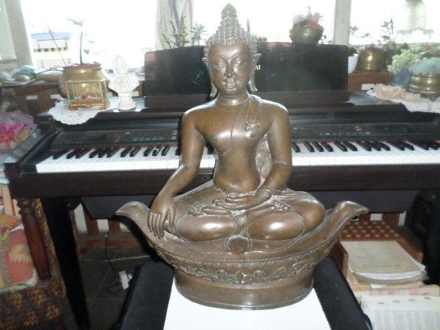 Buda (budha) em Bronze - Raro o preço é fixo! Ver o preço a vista por um tempo limitado! - Foto 3