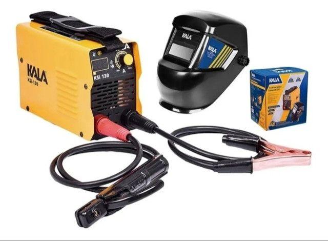 Inversora de solda 130a bivolt ( NOVA) +kit,promoção barato com nf - Foto 2