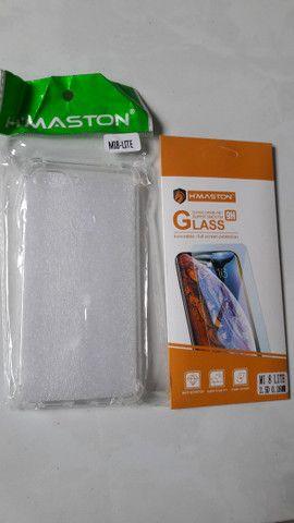 Capinha de silicone Xiaomi MI8 Lite + película de vidro - Novo