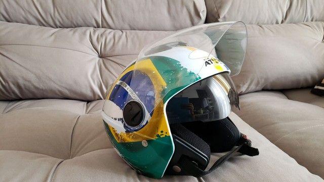 Capacete New Atomic Pro Tork Bandeira Do Brasil