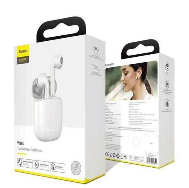 Fone Bluetooth Baseus Encok W40 Pro - Carregamento Sem Fio - Foto 4