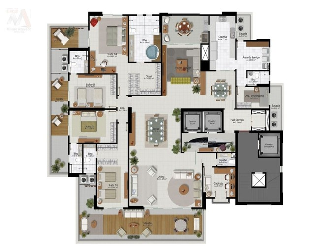 Lindo apartamento no Ed. Number One, novo, área condominial completa, bairro do Umarizal - Foto 5