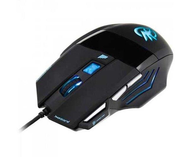 Mouse Gamer Fortrek Black Hawk OM-703 Preto/Azul - Foto 3