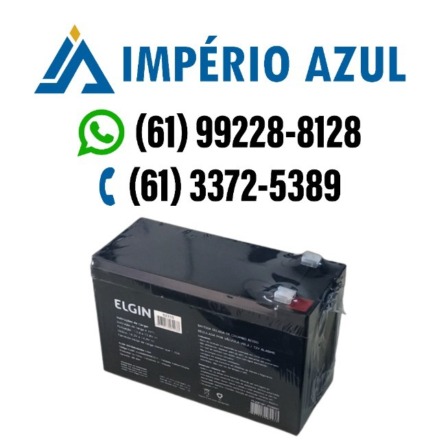 Bateria Selada de Chumbo Válvula VRLA 12v 7A Alarme - Elgin