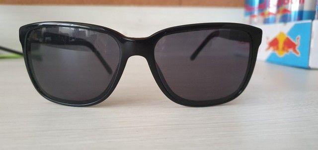 Óculos de Sol Burberry Quadrado BE4181 Masculino - Preto - Foto 5