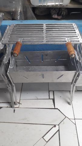 CHURRASQUEIRA MÉDIA alumínio batido - Foto 2