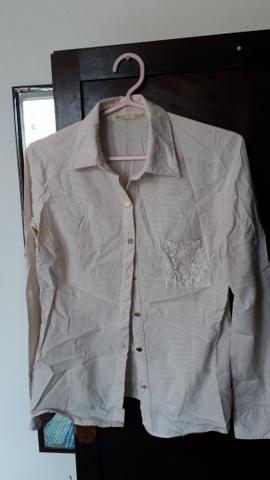cadd713134 Camisa social bege tamanho P - Roupas e calçados - Madalena