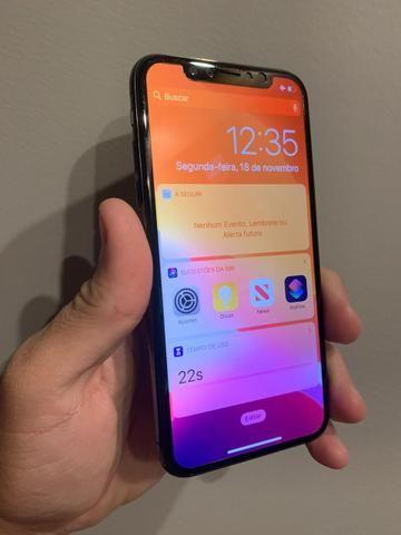 IPhone X 64Gb seminovo com todos acessórios - Foto 2