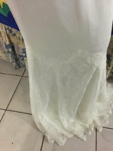 Vestido de noiva con aplicação de renda - Foto 4