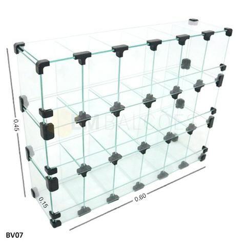 Baleiro de Vidro 0,60 x 0,45 x 0,15 Frete e montagem Gratis