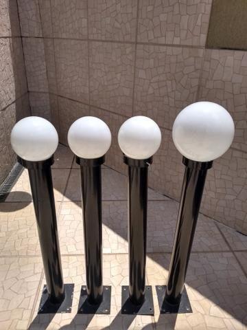 Mini postes de iluminação para jardim com globo - Foto 2