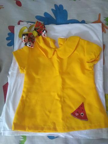 Vestido + tiara da Magali 30.00 tamanho 1 ano - Foto 3