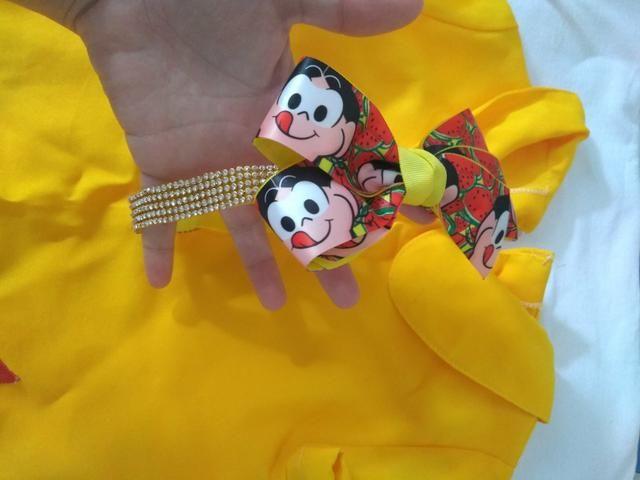 Vestido + tiara da Magali 30.00 tamanho 1 ano - Foto 2