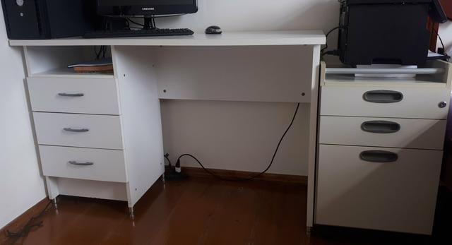Escrivaninha + Gaveteiro com chave - Foto 2