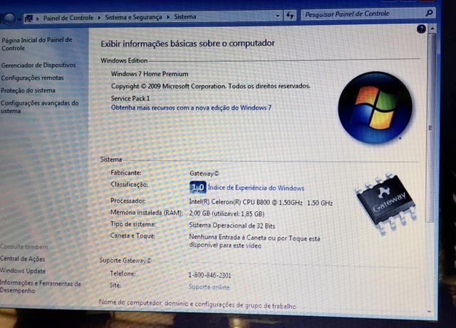 Vende-se Notebook Gateway - Foto 4