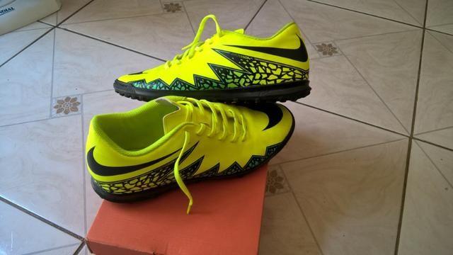 80a98f6fa6 Chuteira Nike Hypervenom Phade II Tf Society - Original (Incluso Meião  Adidas Preto)