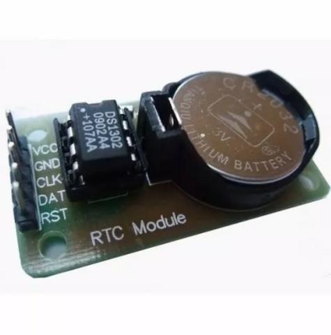 Módulo Rtc Arduino Ds1302 Relógio Real Time Clock + Bateria