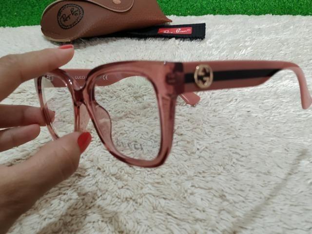 Armação Gucci feminina rosa - Bijouterias, relógios e acessórios ... 53446a745e