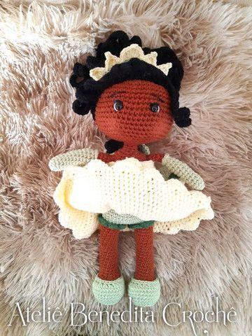 Amigurumi boneca princesa Tiana - Foto 5