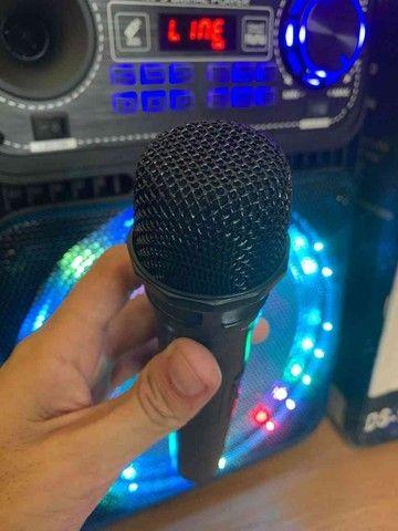 Caixa de som 5000w Bluetooth microfone e controle remoto  - Foto 3