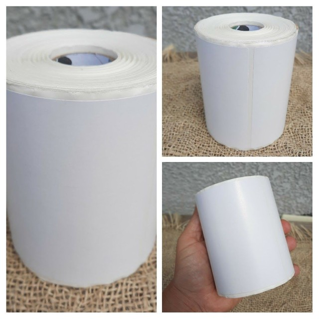 2 etiqueta bopp 100x50 (10x5) adesiva fosco com 804un por rolo. - Foto 5