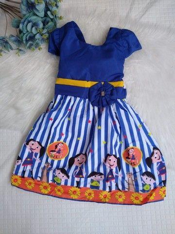 Vestido Infantil - Temático Show da Luna - Vestido para aniversario Festa Infantil