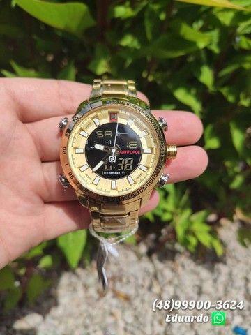 Relógios originais NaviForce Aço Inoxidável - 3atm!! - Foto 2