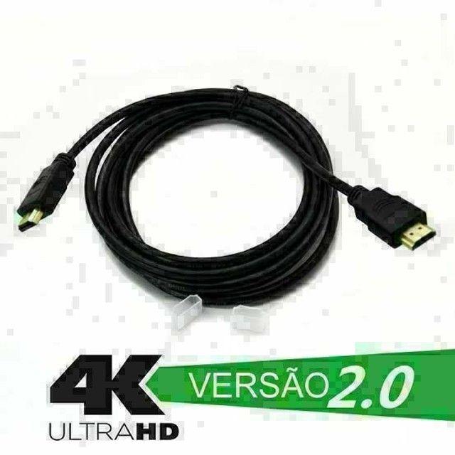 Cabo HDMI 2 metros 4k entrega gratuita em toda baixada