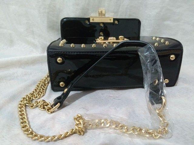 Bolsa feminina transversal luxo promoção barata  - Foto 4