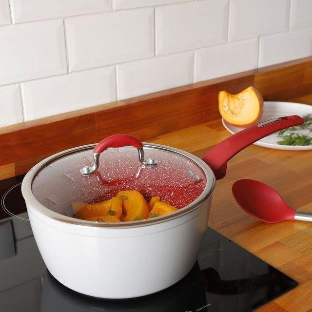 Antiaderente - Panela Power Taste  24 cm  c/ tampa- La Cuisine - Tipo Polishop