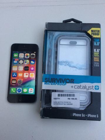 IPhone 5 s 16gb + capa a prova d?água e queda - Foto 5